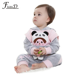 Wholesale Baby Girls Snowsuits - Wholesale-Hot sale baby boy girl clothing set with hoodies. baby boy girl snowsuits ,baby boy girl fleece pajamas new 2015