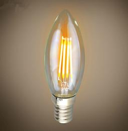 Canada Lampe à bougie à gradateur LED à filament COB chaud de 2014 Lampe à bougie à filament d'ampoule 4W à LED 412 lampes E12 E14 B22 E27 AC110V led lampe à filament Offre