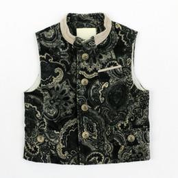 Wholesale Childrens Jackets Coats - Wholesale-Retail winter childrens outerwear coats black waistcoat for boys special design vest for boys fashion jacket cotton vest 4J0780