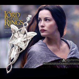 Wholesale Arwen Evenstar Silver - Pendant Necklace Fashion Jewelry Silver Plated The Lord of The Film Arwen Evenstar Arwen 5*3CM Pendant Necklace for Women