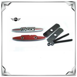Wholesale Car Grill Emblems - John Cooper Works Emblem Metal Car Trunk Rear Grill Grilles Badge For Bmw Mini Cooper new