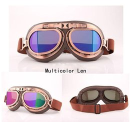 Wholesale cheap plastics for motorcycles - 2017 High Quality Cheap Retro Vintage Aviator Pilot Motorcycle Cruiser Scooter Biker Goggles For Halley Windproof Outdoor Eyewear H205