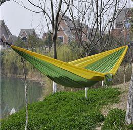 Wholesale Hammock Single - ree Shipping 100pcs lot Outdoor Parachute Cloth Sleeping Hammock Single Camping Hammock