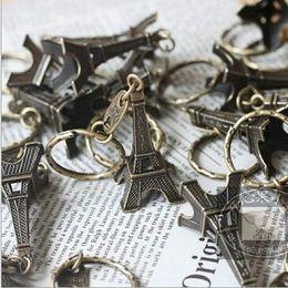 Wholesale Eiffel Tower Boy - NEW Hot fashion Cartoon movie Key Chain Vintage MINI Eiffel Tower Alloy keychain wedding favors keychan cc40