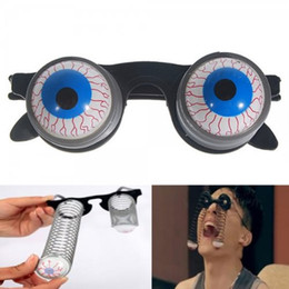 Wholesale Eyeball Glasses - 2015 Halloween Scary Horror Shock Pop Eyes Eyeball-Dropping Glasses Funny Children Glasses Joke Horror 200pcs 00903
