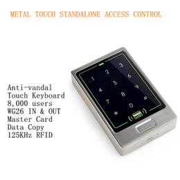 2019 controle de acesso da porta do cartão inteligente 2016 Chegada Nova 125 Khz RFID PIN Toque De Metal Controle de Acesso Autônomo com 8.000 Usuários