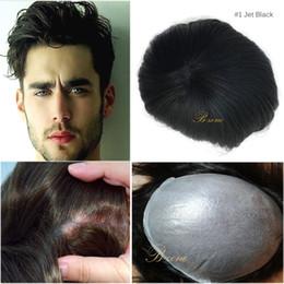 Wholesale Thin Skin Hair Wig - Super thin skin 0.08mm pu v loop natural headline pu thin skin men toupee  men hair replacement  men hair pieces men wig