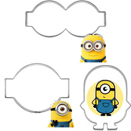 Wholesale Metal Cake Cutter - 3pcs Despicable Me 2 Minions Molds Metal Fondant Cake Decoration Tools Stainless Steel Cookie Cutter Biscuit Sandwich Baking DIY