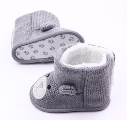 Wholesale Toddler Girl Booties - Baby Winter Boots Infant Toddler Newborn Cute Cartoon Bear Shoes Girls Boys First Walkers Super Keep Warm Snowfield Booties Boot G1108
