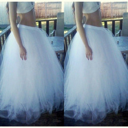 Wholesale puffy clothing - 2015 Floor Length Long Skirts Hot Selling Puffy Tulle Custom Made Tutu Skirts for Gilrs Fashion Women Clothing Floor Length Cheap
