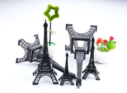 Wholesale metal eiffel tower souvenir - 2016 New black Paris Eiffel Tower souvenirs Model Metal crafts for wedding centerpiece Home table centerpiece Photo Props supply