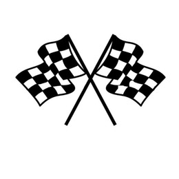 Wholesale Vinyl Flag Stickers - Wholesale 20pcs lot Vinyl Decals Car Stickers Glass Stickers Scratches Stickers Wall Die Cut Bumper Accessories Jdm Checkered Flag Pattern