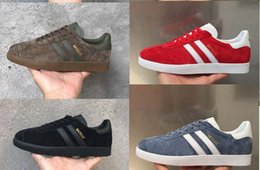 Wholesale Brown Rc - New arrive suede GAZELLE Men Women casual Shoes High Quality skateboad shoes fashion racer 87 90 nmd unisex outdoor Shoes Size 36-45 rc