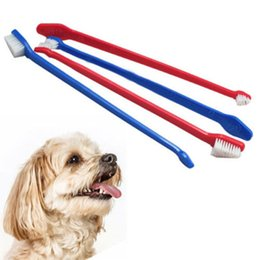 Wholesale Hot Dog Promotions - Hot sales Lovely Grooming Dual End Tooth Brush For Pet Dog Puppy Cat New Arrival product Promotion Free Shipping