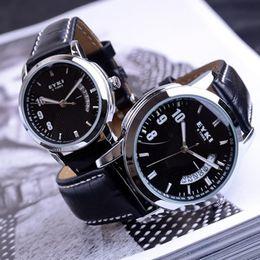 Wholesale Eyki E - High quality Fashion EYKI E-Times Leather Quartz Lover's Watch Male men's watches great gift