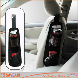 Wholesale Hanging Pocket Chairs - Useful Car Interior Seat Covers Hanging Bags Collector Organizing Bag with Storage Pockets Seat Bag of Chair Side