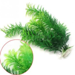 Wholesale Fish Tank Decorations Plastic Plants - Plastic Underwater Grass Plant 30cm Fish Tank Aquarium Decoration Green Artificial Aquarium Plants
