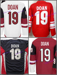 Wholesale Coyote Hockey - Wholesale 2017 New Phoenix Coyotes #19 Shane Doan Jersey Cheap Blue White Red 100% Stitched Ice Hockey Jersey