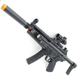 Wholesale Electric Toy Submachine Guns - Children electric toy gun acousto-optic submachine gun boy toy sniper rifle Children's Day Gift Boy