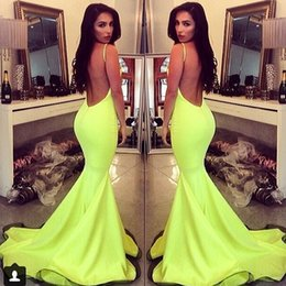 Wholesale Gossip Girl Floor Length Dress - 2017 New Gossip Girls Dresses Mermaid Sexy Backless Floor Length Long Fitted Yellow Dress Long Evening Gown Free Shipping WL256