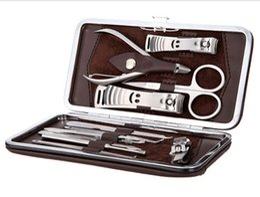 12 dans 1 ensemble Nail Tools, Mini manucure Kit, Cutter en acier inoxydable Toe Nail Cutpocket cuticules professionnelles, livraison gratuite ? partir de fabricateur