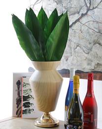 Wholesale Silicon Flowers - 58cm Silicon Soft Feather Leaf Fern Leaf Artificial Green Leaf Home Decoration Flower Arrangement Diy Material