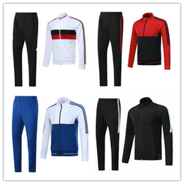 Wholesale Short Jackets Men - top quality 2017 2018 ajax jackeks tracksuit 17 18 real madrid ROBBEN LEWANDOWSKI DYBALA HIGUAIN DOLBERG PAYET CABELLA football jackets sets