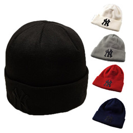 Wholesale Winter Men Accessories - Retail Adult Men Hip Hop Caps NY Embroidery Knitting Cap Women Casual Beanie Hats Fashion Accessories Can Choose Color Free Shipping