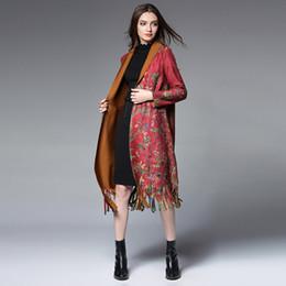 Wholesale Black Velvet Long Coat - Long fluffy buckskin velvet Printing coat,Printed coat,Long term wind trench,Fashion trend,It's beautiful. it has a temperament