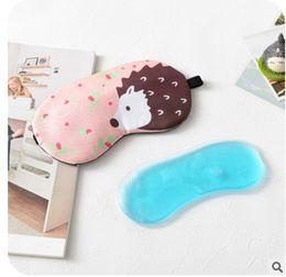 Wholesale Cute Sleeping Masks - Cute cartoon sleep goggles, cold hot compress ice mask, eliminate eye fatigue, use ice bag eye shield dhl free