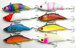 Wholesale Sea Metal Lures - 20PCS 8CM 11.8g 3.14in 0.41oz VIB Vibration all-metal lure fishing bait Hard Baits 8color Artificial Fishing Lure Sea Bionic High-quality!