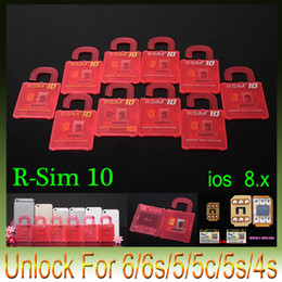 Wholesale Iphone 5c Att Wholesale - Newest Official Original R-SIM 10 R sim 10 RSIM 10 Unlock Card for iphone 6 6plus 5S 5C 5 4S iOS7. X-8.X Support Sprint ATT T-mobile Cricke