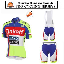 Wholesale Saxo Tinkoff Jersey - Wholesale-Pro Cycling Jersey 2015 Tinkoff saxo bank Ropa Ciclismo Cycling Clothing Breathable Quick-dry Bib Shorts MTB Maillot Ciclismo