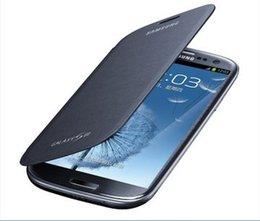 Wholesale S3 Original Flip Case - Wholesale-For Samsung Galaxy S3 i9300 Case Cover Original Flip Leather Case + Free Shipping