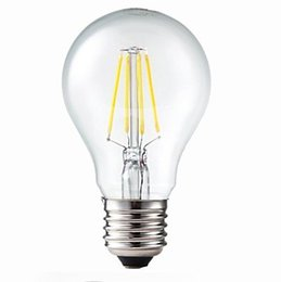 Wholesale A19 E26 8w - Filament Led Bulbs 2W 4W 6W 8W E27 B22 E26 A19 Edison Glass Lamp A60 Warm Cool White AC110V 220V 60W Incandescent Filament Light Replacement