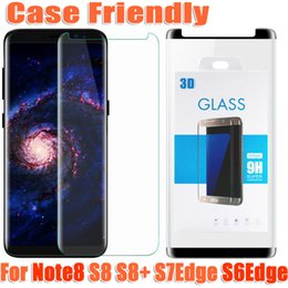 Wholesale Screen Protectors Matte - For samsung galaxy note8 note 8 S8 plus S7edge S6Edge case friendly 3d curved tempered glass Case Version phone screen protector