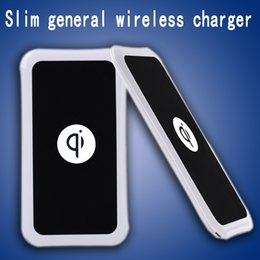 Wholesale Galaxy Base - High quality Slim general Qi wireless charger Base Charging For Samsung Note Galaxy S6 S7 S8 Edge mobile pad with retail package Universal