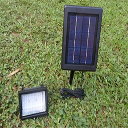 Wholesale Cheapest Led Flood Lights - Cheapest price 30 LED 6V 2.5W solar panel solar led light with Green yellow white light bulbs led flood light free shipping #SL-30A
