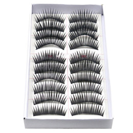 Wholesale Black Fabulous - Wholesale-fabulous 2015 10 Pairs Eyelashes Party black Thick Stage Makeup Essential Simulation Eyelashes women beauty and health supplies