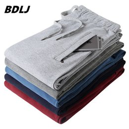 Wholesale Wholesale Cheap Pants - Wholesale- BDLJ,Men pants thin Pure color cotton trousers 2017 new spring male Joggers casual straight health cheap pants sweatpants
