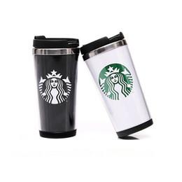 Wholesale Wholesale Starbucks Mugs - Starbucks Double Wall Stainless Steel Mug Flexible Cups Coffee Cup Mug Tea   Travelling Mugs  Tea Cups Wine Cups