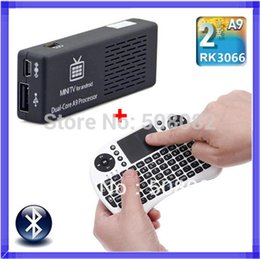 Wholesale Android Tv Air Dual Core - MK808 Mini PC Android 4.4.2 tv box Wifi RK3066 Cortex A9 Dual Core TV BOX HDMI + Touchpad Rii i8 fly air mouse