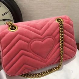 Wholesale Leather Handbag Materials - top most high quality fashion women popular velvet material mini size 22cm shoulder bag, women velet winter handbag original package