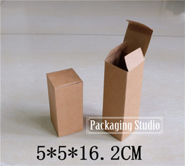 Wholesale Cardboard Boxes Gift Packaging - Wholesale- Free Shipping Brown Party Gift Cardboard Box Perfume Bottle Torch Package Kraft Paper Boxes 5*5*16.2cm