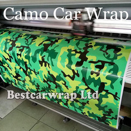 Wholesale Diy Sheet - Green Yellow CAMO Graffiti Camouflage Vinyl Wrap Sheet DIY Arctic Camo Sticker with air release for Car wrap Vehicle wrap 1.52x 30m