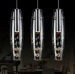O envio gratuito de 2015 nova personalidade Criativa restaurante lâmpada LED lustre de cristal moderno e minimalista bar lâmpada de mesa refeição lâmpada de suspensão de Fornecedores de medidores de luz vintage