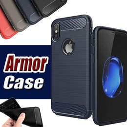 Wholesale Iphone 5s Shock Cases - Rugged Armor Hybrid Carbon Fiber Shockproof The Ultimate Experience Anti Shock Hard Cover Case For iPhone X 8 7 Plus 6S 5S Samsung S8 Note 8