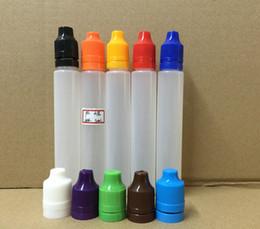 Wholesale Eliquid Empty - Empty 30ml PE Pen Shape Unicorn Bottle E-cig Plastic Dropper Bottle With Tamper Evident Childproof Cap Needle Tips For Eliquid Vape Juice
