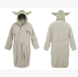 Wholesale Adult Unisex Bathrobe - Star Wars Star Wars Darth Vader Coral Fleece Yoda Master Adult Kids Bathrobe Sleepwear Coral Fleece Unisex Sleepwear Bathrobe