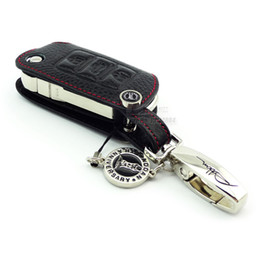 Wholesale volkswagen jetta eos - Genuine Leather Car Key fob case for Volkswagen Eos Touran Jetta Beetle GTI Passat Golf4 Tiguan POLO Scirocco Multivan Caravelle